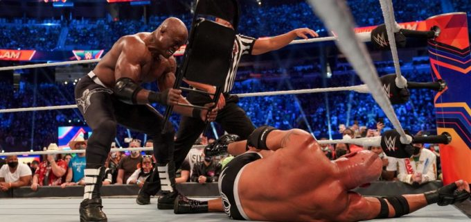 【WWE】ボビー・ラシュリーがゴールドバーグの左ヒザを破壊して王座防衛