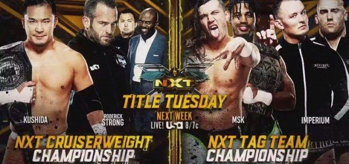 【WWE】王者KUSHIDAとストロングのNXTクルーザー級王座戦が次週のNXTで正式決定