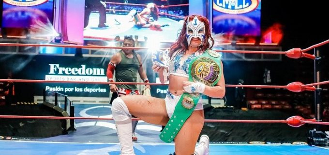 【CMLL】ラ・ハロチータがアレナメヒコ大会で女子ウニベルサル2021を獲得!