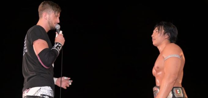 【DDT】KO-D無差別級王座を奪取した竹下幸之介vsクリス・ブルックスのタイトル戦が9.26後楽園大会で決定!
