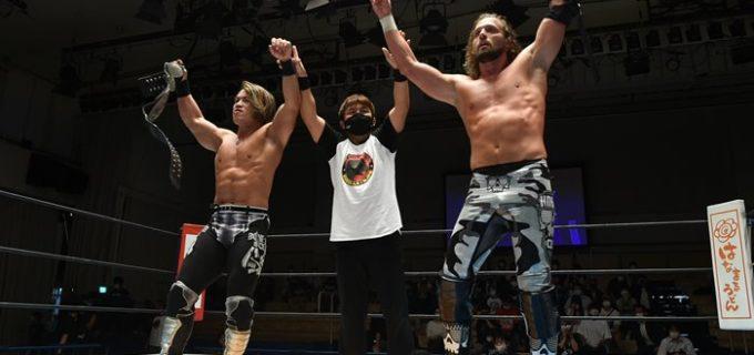 【新日本】石森&ファンタズモが鷲虎タッグを下し4連勝で単独首位に!『SJTL 2021』