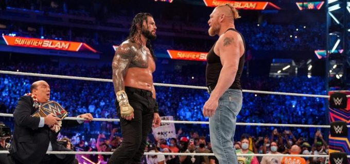 【WWE】ローマン・レインズがジョン・シナを下して王座防衛も電撃復帰のブロック・レスナーが威嚇