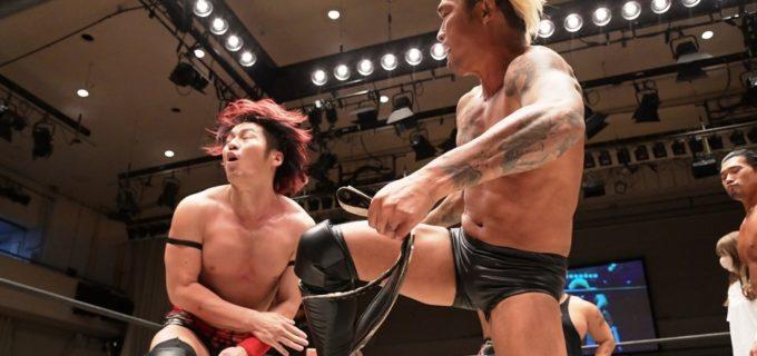 【DDT】KO-D6人タッグ王座前哨戦はダムネーションがイラプションに勝利も、両軍一触即発に!