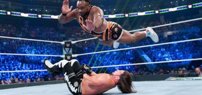 【WWE】ビッグEが仲間割れしたラシュリーをビッグ・エンディングで沈めて6人タッグ戦を制す