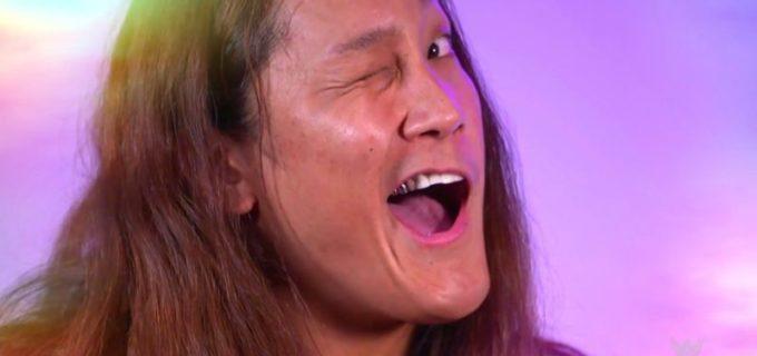 "【WWE】イケメン二郎が""イケメンショー""で悩殺ウインクを披露"
