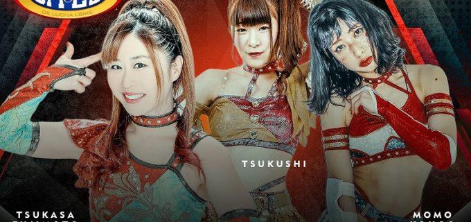 【CMLL】藤本つかさ、春輝つくし、向後桃が10・1アレナメヒコ金曜定期戦参戦&10・8Grand Prixに出場!