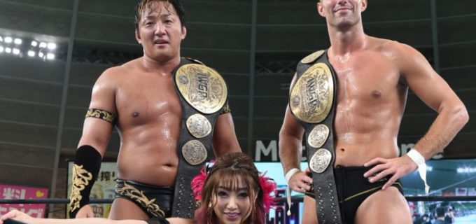【新日本】SANADAが追い詰めたYOSHI-HASHIをタイチが仕留めIWGPタッグ3WAY戦をデンジャラステッカーズが制す!9.5『WGS in MetLife Dome』