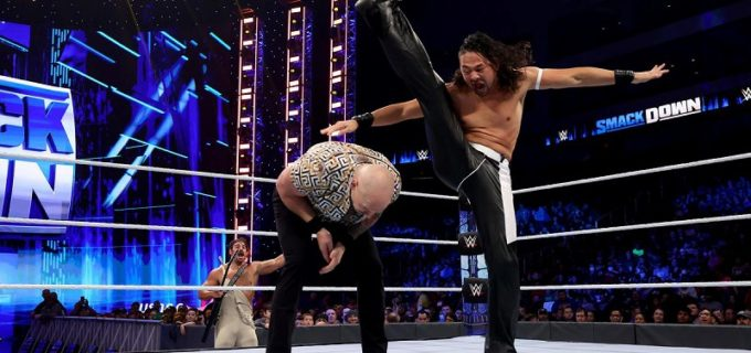 【WWE】IC王者中邑真輔が因縁のハッピー・コービンを圧倒するも逆転負け