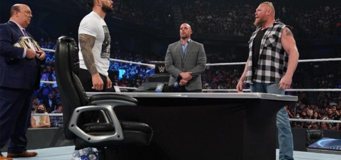"【WWE】""ザ・ビースト""レスナーが王者レインズに""ヘイマン裏切り""を示唆する心理戦"