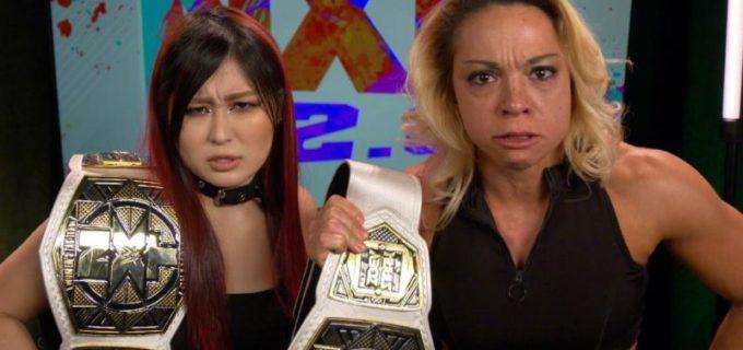 【WWE】王者紫雷イオ&ゾーイがライバルと大乱闘!「ハロウィン・ハボック」の王座トリプルスレット戦へ