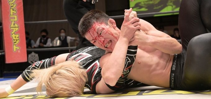 【DDT】EXTREME王者・青木真也が堀田祐美子の反則攻撃に苦戦も薄氷の防衛も、両者ともに再戦を希望!