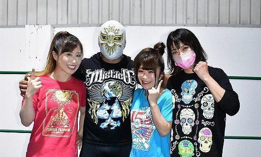 【CMLL】女子版グランプリを前にミスティコが藤本つかさ、春輝つくし、向後桃を指導