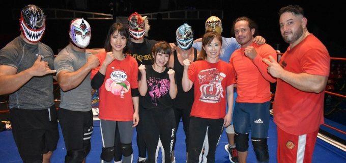 【CMLL】藤本つかさ、春輝つくし、向後桃がボラドールの新ユニットと合同練習