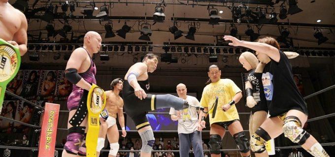 【DDT】谷津らのチーム・オリンピアンがKO-D8人タッグ王座初Vに成功し、敗れた準烈は解散へ!11・3大田区で大鷲&本多&平田&ヨシヒコが挑戦!